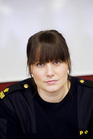 Veronica Andersson vid länskriminalpolisen i Västernorrland.