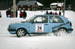 Tomas Bergman hade en segermarginal till klassens tvåa, Stefan Hedström, med en sekund.