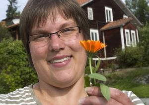 Jenny Morin har gått en trädgårdsutbildning i Stockholm och trivs bra på Davidsgården.