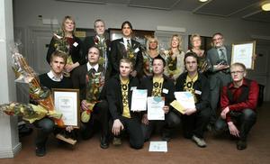 Prisade företagare. Här är de, företagarna/köpmännen som antingen nominerades till utmärkelserna eller kammade hem priset vid lördagens näringslivsfest på Gammelgården.