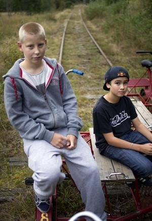 Joakim Högdahl och Robbin Roos Nordlund har redan gjort reklam för sin verksamhet genom 200 lappar i brevlådor. Nu hoppas de på napp.