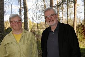 Nöjda arrangörer. Ulla Carin Grafström och Lars Jonsson i Närkesbergsfilm arrangerar Närkesbergs filmfestival för tolfte året i rad.