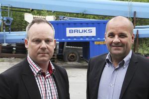 Håkan Nordlund och Mikael Brännström på Bruks.