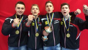 Anton Hjort, Anton Källberg, Adam Blomquist och Anders Eriksson vann SM-guld i helgen.