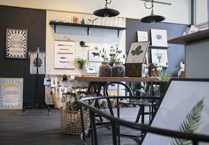 Knaada Konceptbutik ligger i ett av de gamla klassrummet i den numera nerlagda Ovanåker skola.