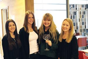 Bicchiere Glasgåvan UF Består av Evelin Oinonen, Elin Säterdahl, Linnéa Dahlqvist och Sofia Johnsson.