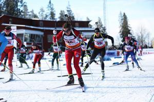 Öberg blev två på JSM i sprint 2015. Fotograf: Lisa Johansson