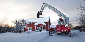 Villan var rökfylld när ägaren kom hem på eftermiddagen.