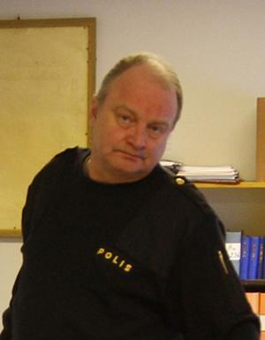 Bengt Ove Nyhlén varnar för laserpekarna som börja bli ett problem.