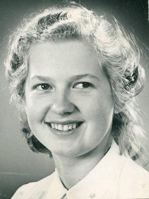 Med den här bilden fick luciakandidaten Nelly Östlund, då Wååg, folkets röster och blev Bollnäs första folkvalda lucia.