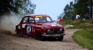 Fredrik Ekdahl från Bromma visade att Saab även kan. Foto:Christian Larsen