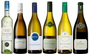 Sex viner som passar utmärkt till inte allt för smakrika fiskrätter och inte minst till färska skaldjur som ostron.