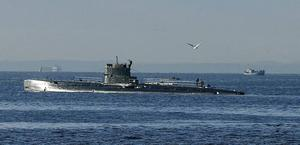Krönikör Nygren minns hur en ubåt fångades på bild i Sundsvalls inre hamn.