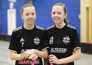 Tvillingarna Clara och Frida Hellgren kom till IBF Falun från hälsingeklubben Bollnäs Hertsjö IBF.