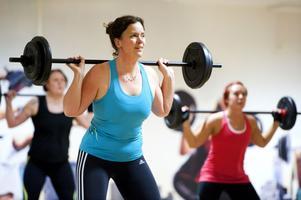 Lena Aho, 42, Borlänge, tränar för att bli starkare. Hon är en av de 1 172 kvinnor som tränar på Må Bättre och tillhör därmed 60 procent av gymmets medlemmar.