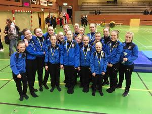 En silverplacering blev det i lördags för BGK:s truppgymnaster i RM-klassen.