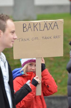 Meja Boström, ett av alla barn som var med och demonstrerade.