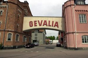 Gevaliaskylten vid infarten på Magasinsområdet. Foto: Arkiv