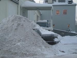 Överraskad av vinterń, som många andra av oss i vårt avlånga land.