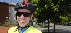 Kristoffer Halvarsson cyklade till Bollnäs från Järvsö på en timme och 44 minuter.Foto: Erik Lindgren