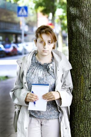 Haifaa Allabwani läste journalistik i Syrien när hon blev tvungen att fly. Nu är hon praktikant på Gefle Dagblad.