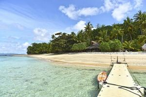 Flower island tycks hämtad från resereklamens värld – som många andra öar utanför Palawan.   Foto: Anders Pihl