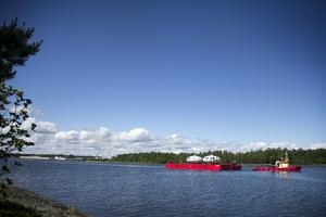 Husen har stått och väntat på industriområdet i Norrsundet.