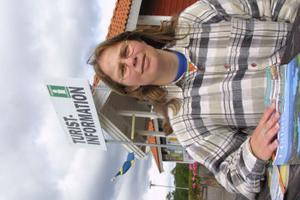 Anna Myhrberg på Nordanstigs turistbyrå i Harmånger.