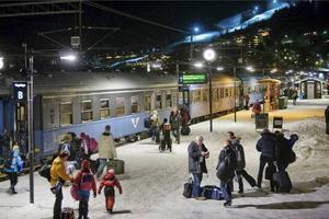 SJ:s nattåg från Göteborg till Jämtland kör passagerare till Åre och Östersund. Foto: SJ Pressbild, Kasper Dudzik