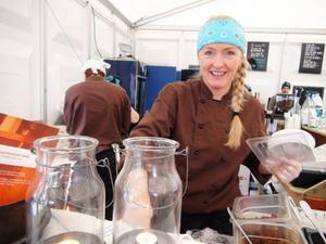 Lena Flaten från restaurang Flamman i Storlien har denna vecka valt att gästspela i Åre.