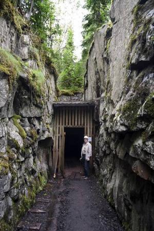 Ingången till gruvan.