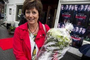 Bollnäs kommunstyrelseordförande Marie Centerwall (S) gratulerade .