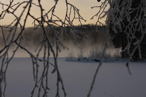 Vy över Indalsälven i Stugun den 8/1. 26gr kallt