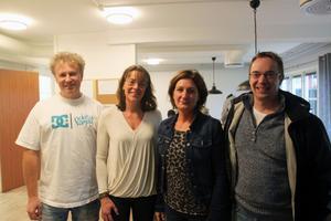 Kenta Larsson och Pernilla Lissel  arbetar på Campus Storbyn  och Helene Aune (ansvarig för boendet) och Jonas Larsson VD för bostadsbolaget Malungshem.