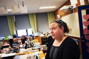 Maria Litfeldt är ordförande för Jamtlandscrapsociety, föreningen för scrapbooking i Jämtland. Hon var nöjd med helgens träff.