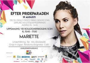 Mariette underhåller i Boulognerskogen.