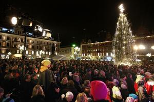 Martin Häggström tycker att Lyslördag är en viktig tradition, nästan som en manifestation för Sundsvall.
