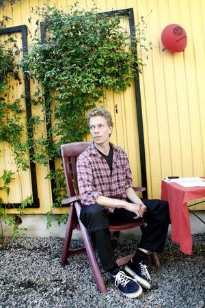Mikael Hjort är aktiv i Joe Hillsällskapet som driver museet på Joe Hillgården.