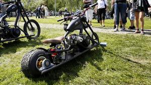 En minicykel på platt ram. Foto: Måna J Roos
