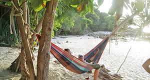 Lugnt strandliv på thailändska Koh Lipe.