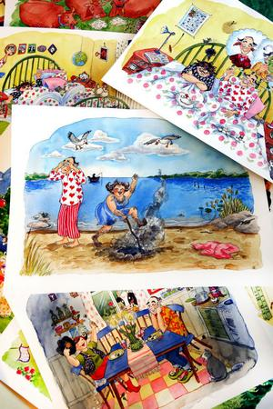Pia Niemi har släppt loss fantasin och skapar många fantasieggande miljöer och detaljer där