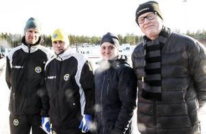 Pär Norling, Tomas Burman, Jessica Dorf och Sten Inge Nilsson.