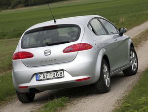 Seat Leon med miljöklassad dieselmotor är rymlig, rolig och riktigt fräckt formad. Under skalet är det mesta identiskt med VW Golf.Foto: Rolf Gildenlöw