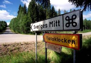 Flataklocken är Sveriges geografiska mittpunkt.