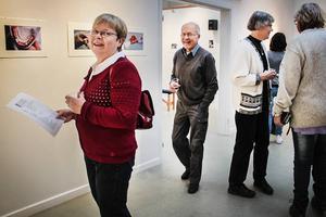 Kerstin och Lars Klint tyckte det var spännande att se alla fotografier.