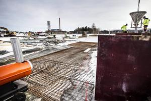 Fotbollshallen är inte det enda projektet i Ljusdal att finansieras av Arvsfonden. Även betongparken som håller på att byggas på Östernäs har fått ett bidrag.