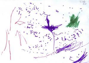 Tilde 3år från Tierp, har målat en julhälsning till Tomten. God jul!