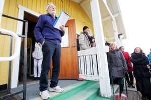 Göran Busk höll talet till våren i Ytterberg. Något oförberedd enligt honom själv men det märktes knappast.