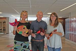 Lena Lindh, Per Nordin och Mia Peter jobbar alla på Kulturskolan.