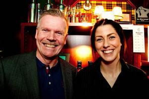 Michael Ternqvist och Johanna Forslöf på Dalwhinnie, tvåa och etta i norrländska kvalet till Årets bartender 2014.